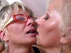 Granny, Lesbian, Mature, MILF, Mature