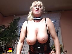 Big Boobs, Blonde, Blowjob, German