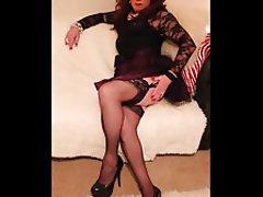 MILF, Redhead, Stockings