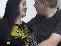 Asian, Blowjob, Cumshot, German