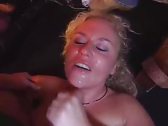 Blonde Gangbang German Group Sex Swinger