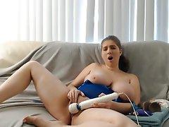 Babe, Big Boobs, Masturbation