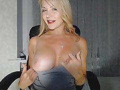 Babe, Big Boobs, Blonde, Webcam