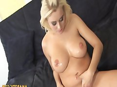 Blonde, Cum in mouth, Masturbation