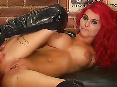 British, Big Boobs, Close Up, Masturbation, Redhead