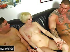 Blowjob German Hardcore MILF Threesome