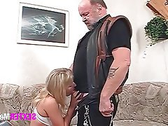Old and Young, Blowjob, Blonde, German, Hardcore