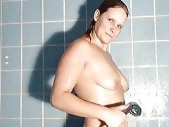 Amateur, German, Shower, MILF