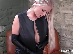 Big Boobs, Blonde, British, Latex