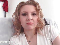 Casting, German, Small Tits, Masturbation, Close Up