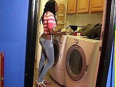 Webcam, Black, Ebony, Ass, Jeans
