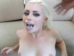 Blonde Pornstar Interracial