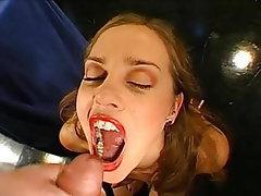 Cumshot, Bukkake, German, Cum in mouth