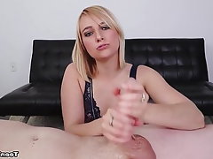 Blonde, Teen, Handjob