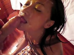 Amateur, Asian, Blowjob, Cumshot, Facial