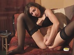 Amateur, Brunette, German, Stockings