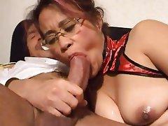 Asian, Mature, MILF, Threesome