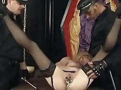 BDSM German Latex Mature Threesome