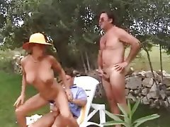 Anal, Double Penetration, German, Outdoor, Threesome