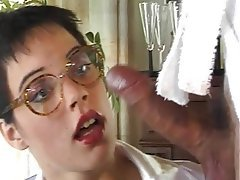 Anal, Ass Licking, German, Lingerie, Stockings