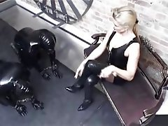 BDSM Femdom Foot Fetish German Latex