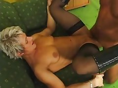 Blonde German Mature MILF Stockings